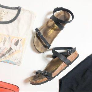Birkenstock Daloa Black Ankle Strap Sandals